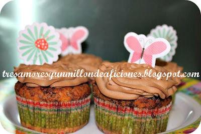 Cupcakes de mandarina y toblerone