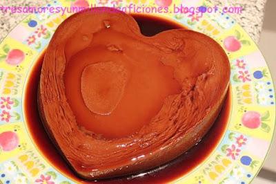 Flan de turrón de chocolate