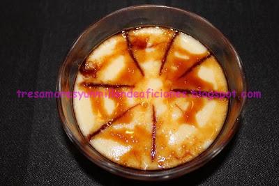 Natillas de manzana de caramelo