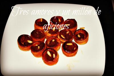 Minivolovanes de sobrasada y miel